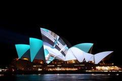 Vivid Sydney. Sydney Opera House during the Vivid Festival Stock Images