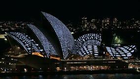 Vivid Sydney. Sydney, Australia - June 2016; Opera House during the event Vivid Sydney stock footage