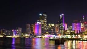Vivid Sydney 2015. SYDNEY, AUSTRALIA - May 28, 2016, Sydney Opera House illuminated during Vivid show festival 2016 stock footage
