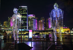 Vivid Sydney - Exposed Royalty Free Stock Photo