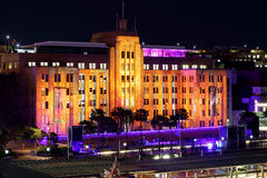 Vivid Sydney lights on Museum of Contemporary Art Building Royalty Free Stock Photo
