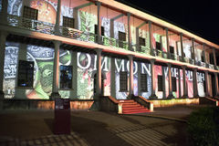 VIVID Sydney The Mint. Outside the Sydney Mint Building during the Sydney VIVID Light festival royalty free stock images