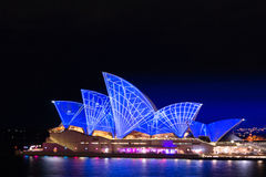 Vivid sydney opera house night life. Vivid sydney lines Royalty Free Stock Photography