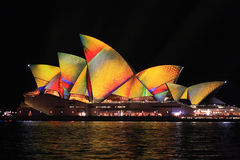 Vivid Sydney, Sydney Opera House  geometric Royalty Free Stock Photo