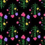 Vivid textile texture. Colorful floral seamless pattern Stock Photo