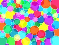 Vivid transparent bubbles. Globe texture colors transparent balls Royalty Free Illustration
