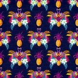 Vivid Tropical Seamless Pattern Royalty Free Stock Image