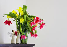 Vivid vase of flowers Royalty Free Stock Photo