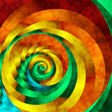 Vivid Vortex. Abstract fractal spiral in vivid rainbow colors Stock Photo