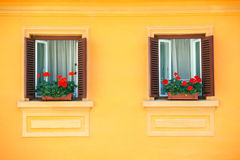 Vivid wall windows Royalty Free Stock Photo