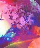 Vivid wave collage. Crazy technicolour photo illusion Royalty Free Stock Photography