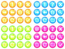 Vivid web buttons Royalty Free Stock Image