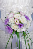 Vivid wedding bouquet at bride\'s hands Stock Image