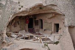 Vivienda de cueva en el göreme, cappadocia, pavo fotografía de archivo