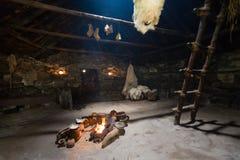 Vivienda de la edad de hierro en Bostadh en el Hebrides externo Fotografía de archivo