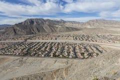 Vivienda del desierto cerca de Las Vegas Fotos de archivo libres de regalías