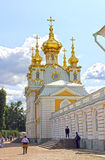 Vivienda eclesiástica del palacio en St Petersburg fotos de archivo libres de regalías