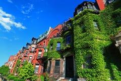 Vivienda histórica de Boston Foto de archivo libre de regalías