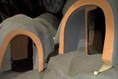Viviendas de cueva Imagen de archivo libre de regalías
