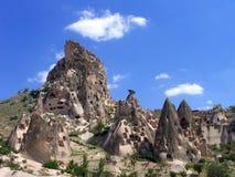 Viviendas de cueva en Cappadocia, Turquía Imagen de archivo libre de regalías