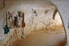 Viviendas de la troglodita (Túnez) Fotografía de archivo libre de regalías