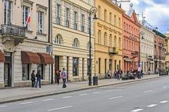 Viviendas en la calle de Nowy Swiat Imagen de archivo libre de regalías