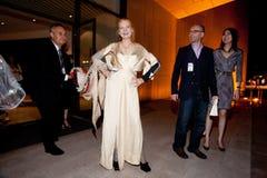 Vivienne Westwood Shanghai Erscheinen-Bühne hinter dem Vorhang lizenzfreie stockfotos