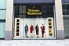 Vivienne Westwood store front with commercial Signage royalty free stock images