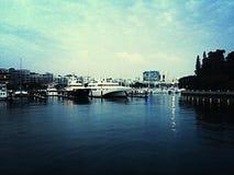 Vivocity海湾Yahtch 免版税图库摄影