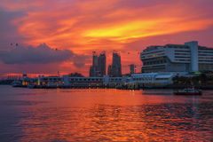 Vivocity & ηλιοβασίλεμα στοκ εικόνα