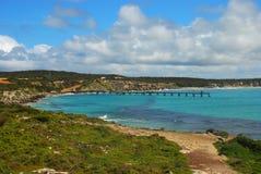 Jetty. Vivonne bay and jetty in Kangaroo island Stock Photo