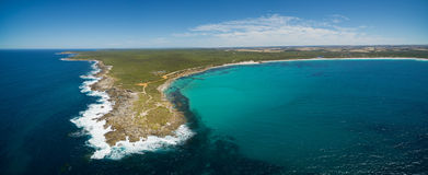 Vivonne Bay, Kangaroo Island beautiful aerial panorama. Vivonne Bay, Kangaroo Island beautiful aerial panorama Stock Photos