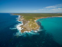 Vivonne Bay and Point Ellen, Kangaroo Island aerial view. Royalty Free Stock Photography