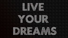Vivono i vostri sogni fotografie stock libere da diritti