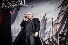 2016 vivos metalband pesado perturbado Fotografia de Stock Royalty Free