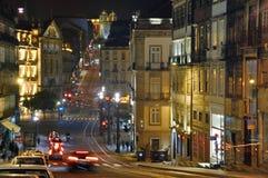Viw di notte di Oporto immagini stock