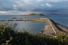 Viw of Howth harbour. In the evening, Ireland Royalty Free Stock Images