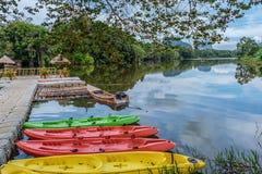 Viwe озера утра Krabi стоковая фотография