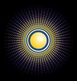 Viwe Floral Sun Dot Vector Stock Image