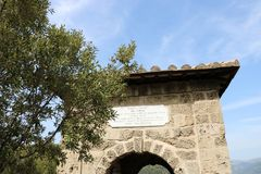 Viwes agradables del monumento histórico en Roma Foto de archivo