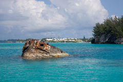 The Vixen shipwreck, Bermuda Stock Photo