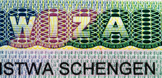 Viza schengen Royalty Free Stock Photo