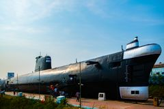 Vizag submarine showcase rk beach stock photo