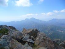 Vizcachas山山十字架  图库摄影