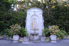 Vizcaya庭院在迈阿密,美国 库存照片