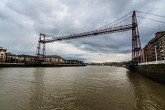 Vizcaya κρεμώντας γέφυρα Στοκ εικόνα με δικαίωμα ελεύθερης χρήσης
