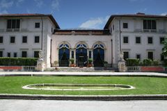 Vizcaya. Is an estate in a North Italian sixteenth-century style on Biscayne Bay in Miami, Florida, designed for James Deering as a winter residence. The estate Royalty Free Stock Images