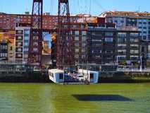 The Vizcaya Bridge in Portugalete Royalty Free Stock Photography