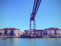 The Vizcaya Bridge in Portugalete Royalty Free Stock Images