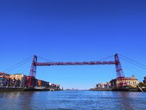 The Vizcaya Bridge in Portugalete Royalty Free Stock Photos